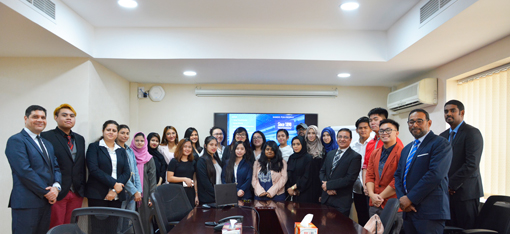 CUCA Students tour Kanoo Travel for learning opportunities in the travel sector