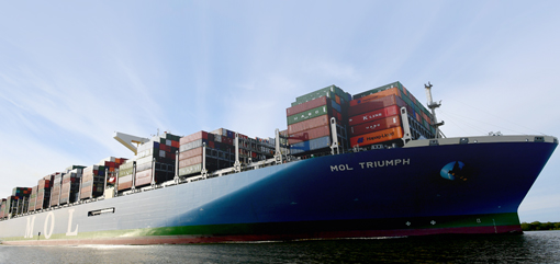 Kanoo Shipping handles the world's largest container ship on maiden call to Jebel Ali Port