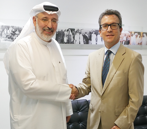 The Kanoo Group's Deputy Chairman receives new Spanish Ambassador to the UAE